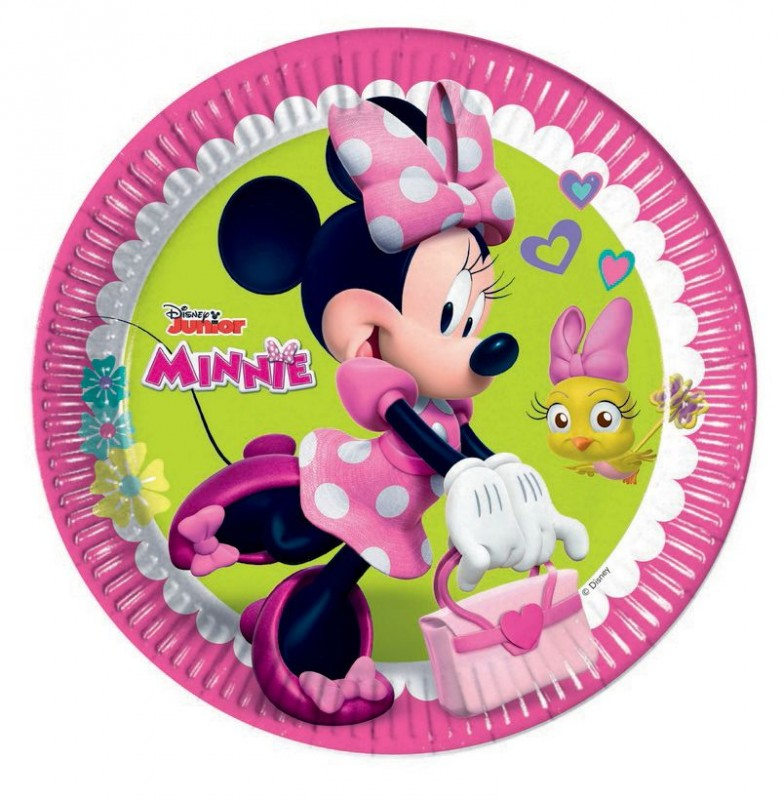 talíř papírový 23 cm Minnie 8 ks