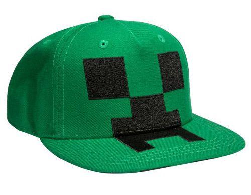 7044e7309d1 Čepice Baseballová   Kšiltovka   Rap Minecraft Creeper Zelená 56