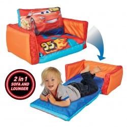 Mini rozkládací sedačka / lehátko pro děti Cars 2 v 1