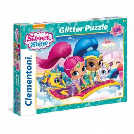 Puzzle třpytivé Shimmer and Shine 104 dílků / vecizfilmu