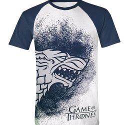 Tričko Pánské Hra O Trůny / Game Of Thrones Stark Reglan Bílé / Modré L
