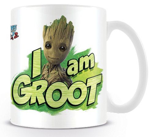 Hrnek Keramický Strážci Galaxie / Guardians Of Galaxy I Am Groot Bílý 315 Ml