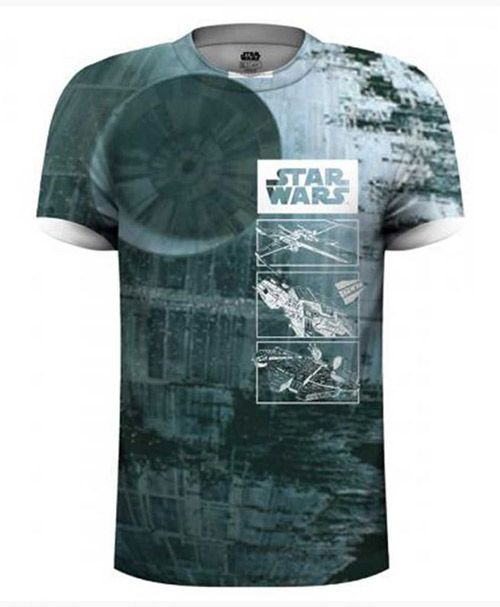 TRIČKO PÁNSKÉ STAR WARS DEATH STAR SUBLIMATION XL