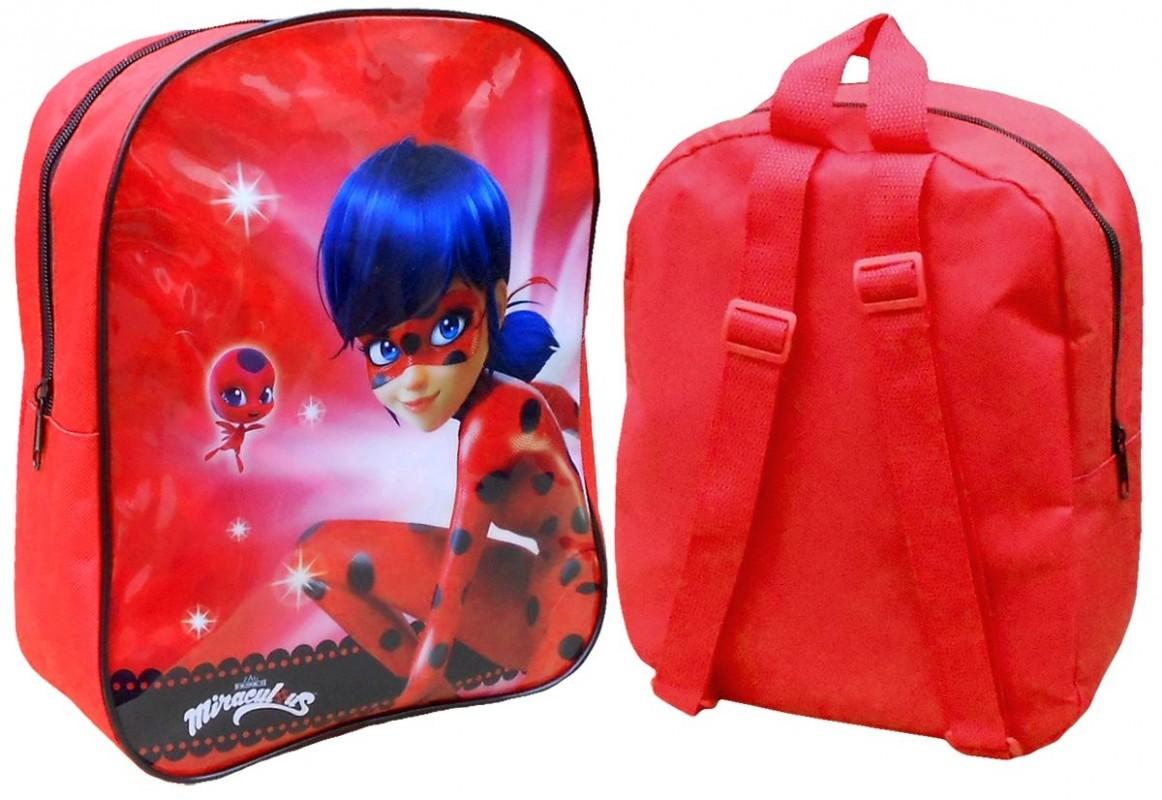 3ee63ef170b Dětský Školní Mini Batoh Červený Zázračná Beruška   Miraculous Ladybug