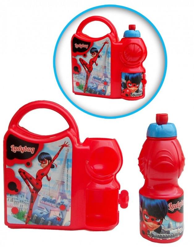 Svačinový set krabička a láhev na pití Miraculous Ladybug / Zázračná Beruška