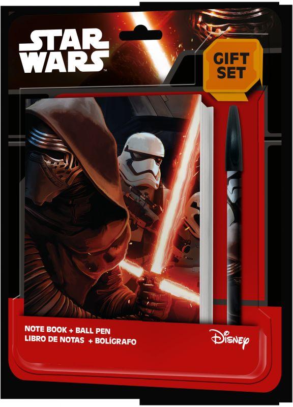 Sada školních potřeb Notes a kuličkové pero / propiska Star Wars