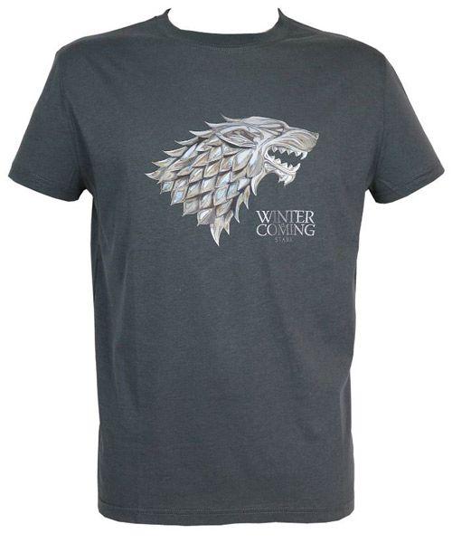 Tričko Pánské Hra O Trůny / Game Of Thrones Stark Logo Černé Xl