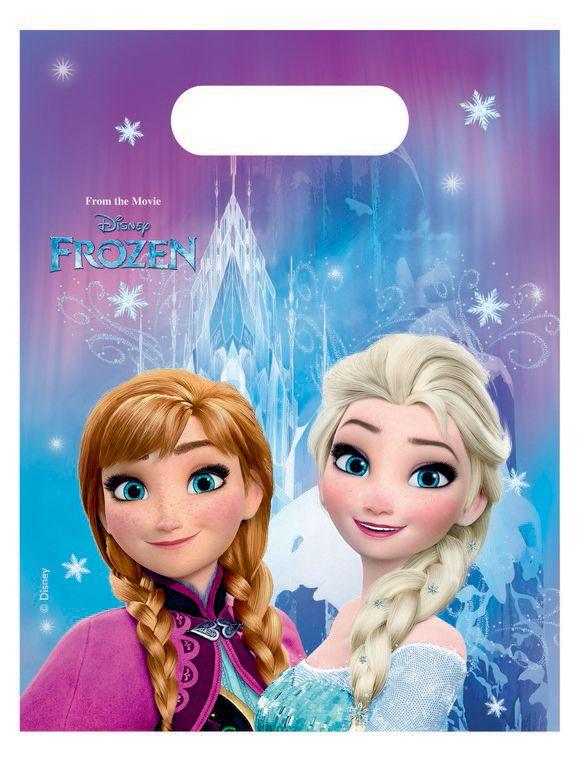 Taška párty Frozen / Ledové království 16,5 x 23 cm  6 ks