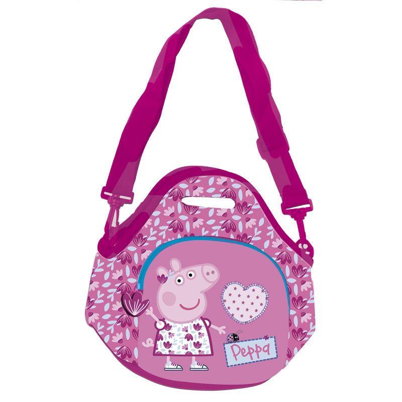 Mini Taška Přes Rameno Prasátko Pepa / Peppa Pig Růžová 28 X 25 X 2 Cm