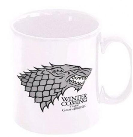 Keramický hrnek bílý 320 ml Game of Thrones / Hra o trůny Winter Is Coming