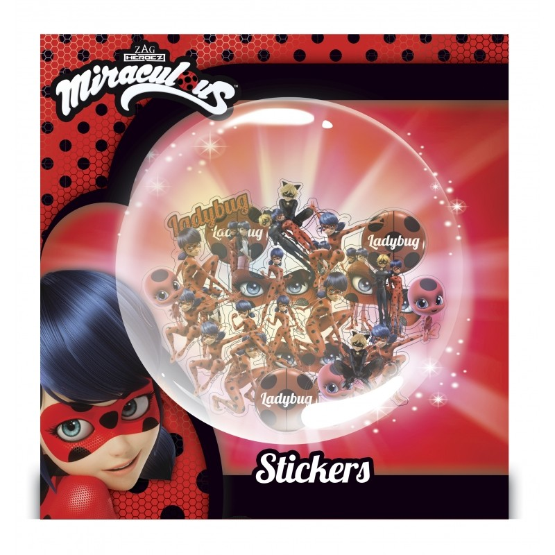 Holografické Nálepky Miraculous Ladybug / Zázračná Beruška